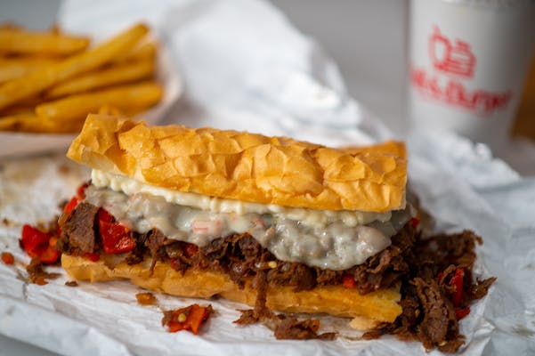 Philly Cheese Steak Poboy