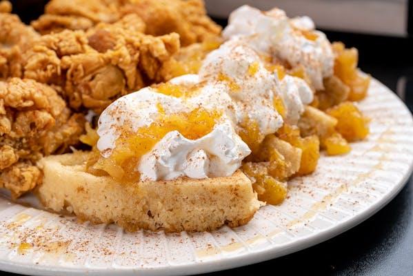 Upside-Down Pineapple Waffles