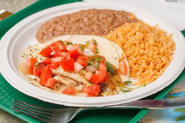 #33 Fish Taco Plate