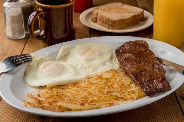 Ribeye Steak Breakfast