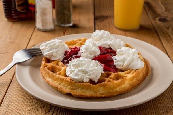 Belgian Waffle w/ Topping