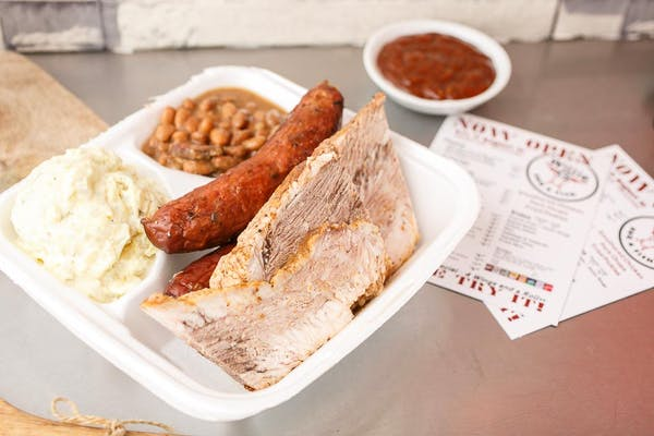 (2) Meats & (2) Sides Plate