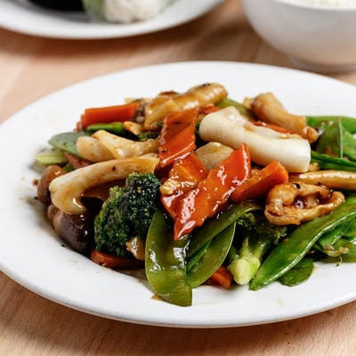 Squid & Hunan Sauce