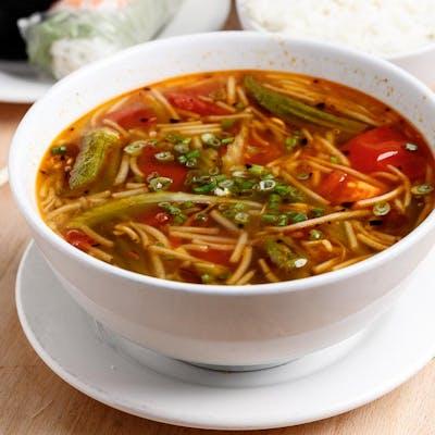 Vietnamese Hot & Sour Shrimp Soup