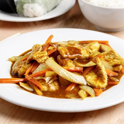 Curry Chicken & Coconut Sauce