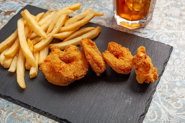 (5 pc.) Fried Shrimp Plate