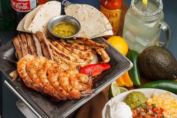 Chicken, Steak & Shrimp Fajitas