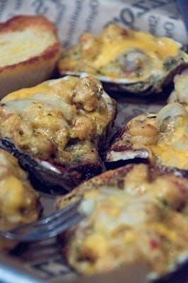 Cajun Crawfish Oysters 1/2 Dozen