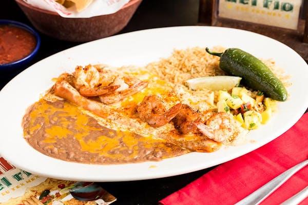 Tijuana Shrimp Enchiladas