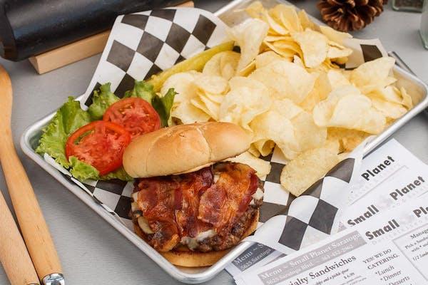 Chipotle Mushroom Bacon Burger