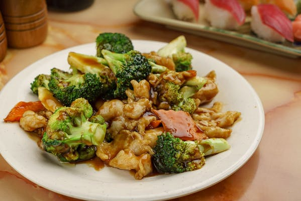 L3. Beef or Chicken with Broccoli Combo