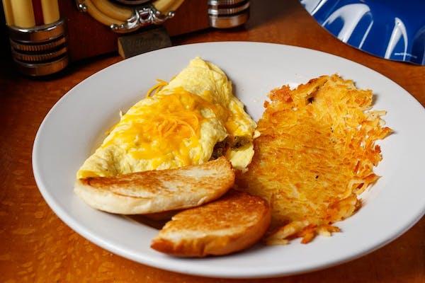 Chorizo & Cheese Omelette