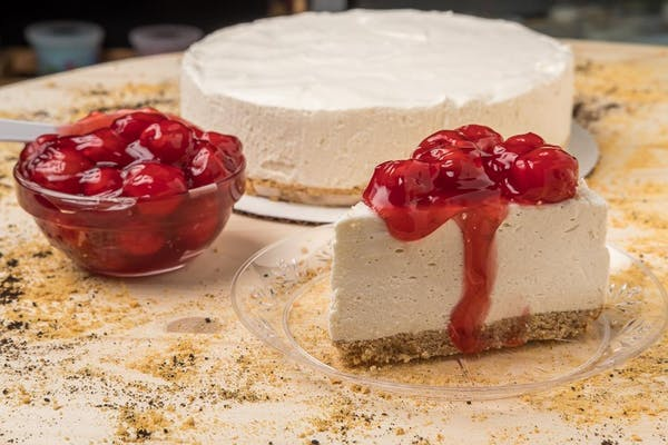 Original Cheesecake with Cherry Topping