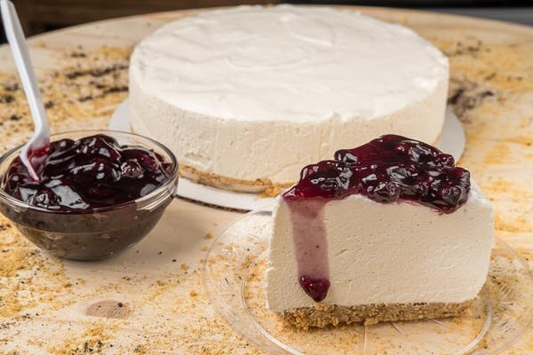 Original Cheesecake with Blueberry Topping