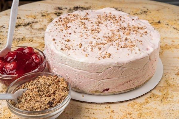 Cherry Pecans 'N Cream Cheesecake