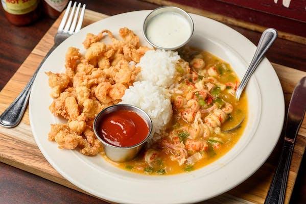 Crawfish Étouffée & Fried Crawfish Tails