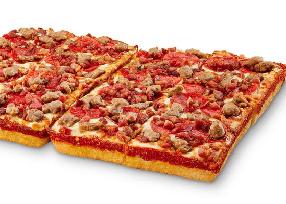 Deep! Deep! Dish Three-Meat Treat Pizza