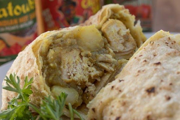 Jamaican Jerk Chicken Roti Wrap