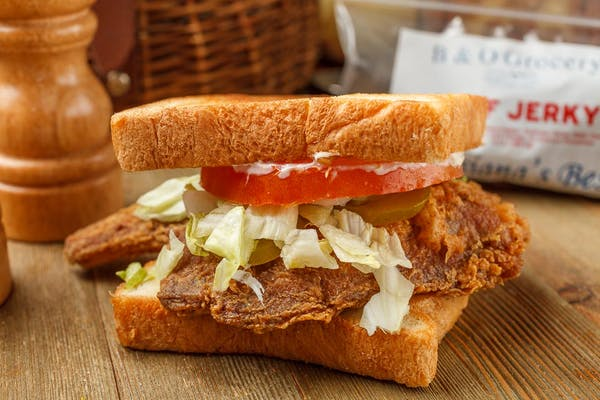 Fried Pork Chop Sandwich