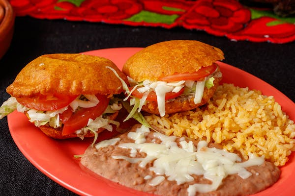 Gorditas with Beans & Rice