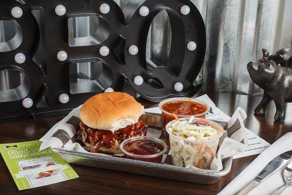 Pulled Pork Sandwich Plate