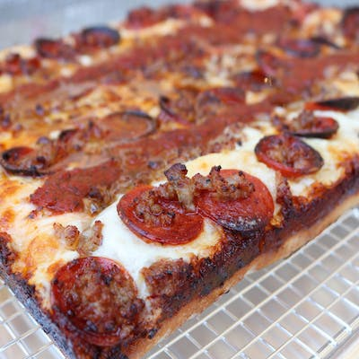 Whole Detroit Pepperoni and Sausage Pizza