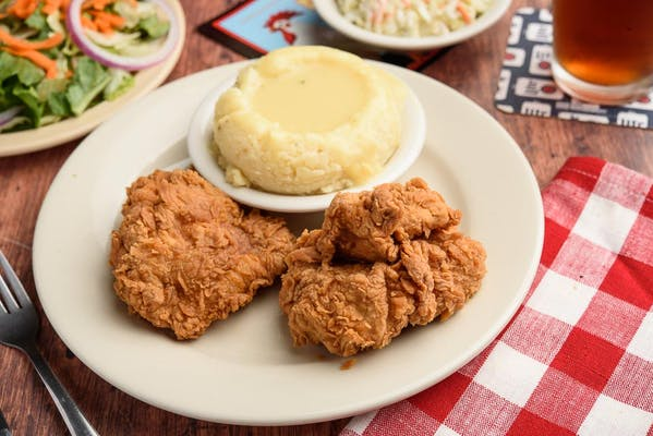 (2 pc.) Southern Fried Chicken with Soup or Side