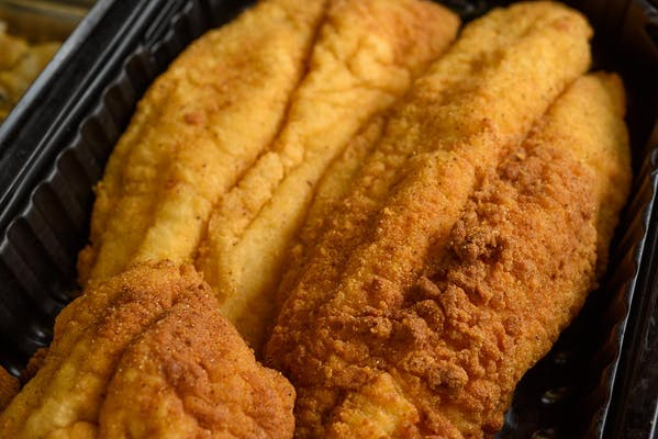 (1 pc.) Breaded Catfish with Biscuit or Roll