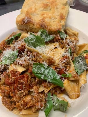 Hand-Rolled Pasta Bolognese