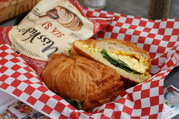 Egg Salad Croisant Sandwich