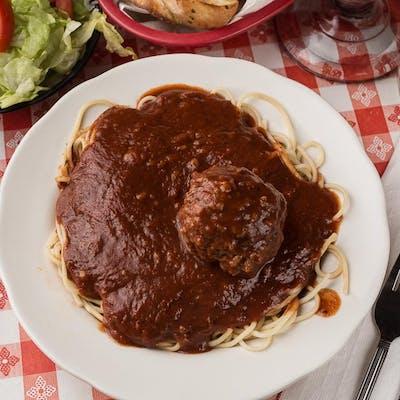 Meatballs & Spaghetti w/Salad