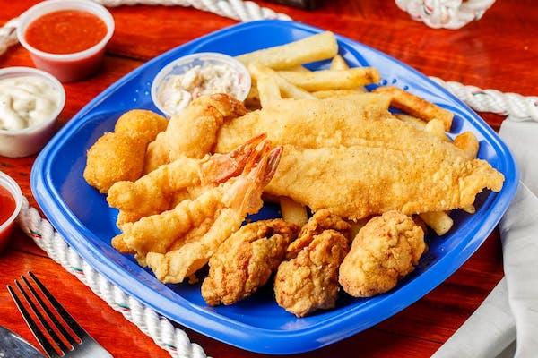 Grilled Shrimp & Catfish, Tilapia, or Flounder