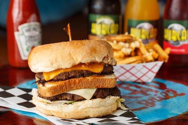 Hubcap Decker Burger