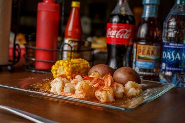 Boiled Shrimp Coca-Cola Combo