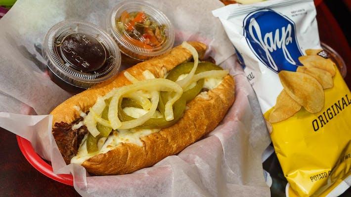 (L) Chicago Style Italian Beef Sandwich