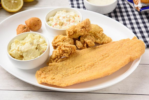 8. Catfish & Oysters Platter