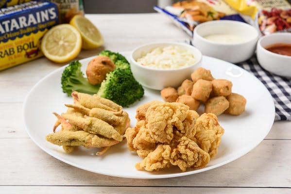 15. Fried Crab Claws & Oysters Platter