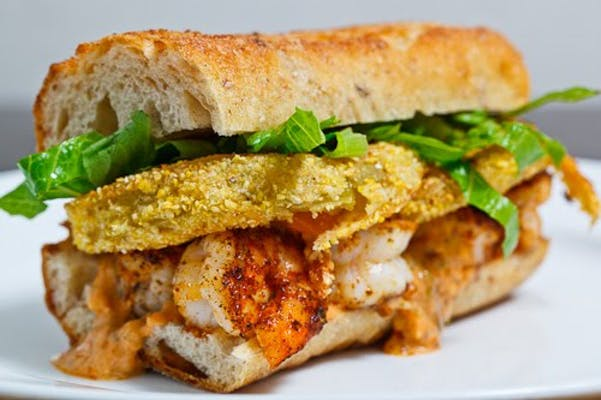 Fried Green Tomato Po-Boy