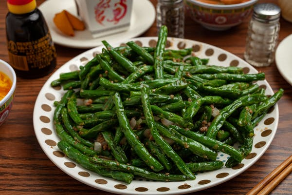 #37a Sautéed Green Beans with White Rice