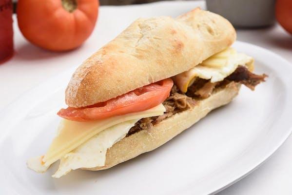 Roasted Pork, Egg & Cheese Sandwich