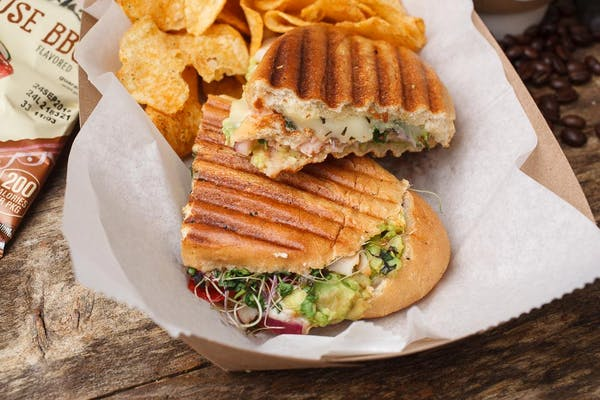 Chicken Avocado Melt Panini Sandwich