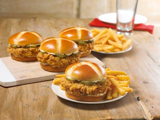 Spicy Chicken Sandwich Feed 4 Combo