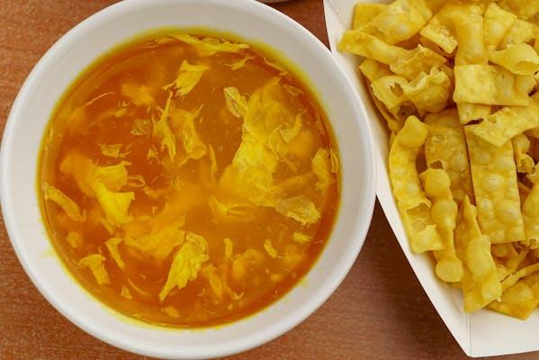 10. Egg Drop Soup & Crispy Noodles