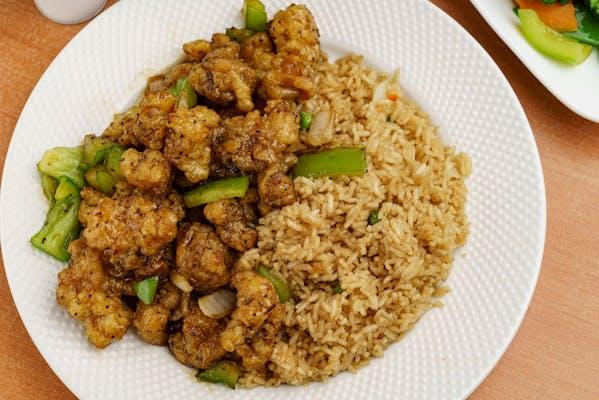 S16. Black Pepper Chicken & White Rice