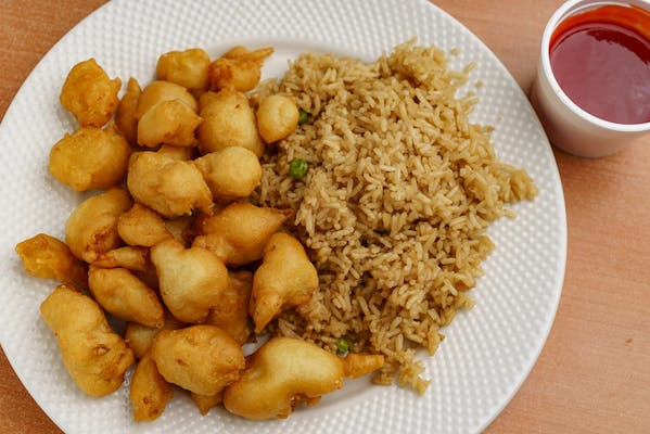 47. Sweet & Sour Chicken with White Rice