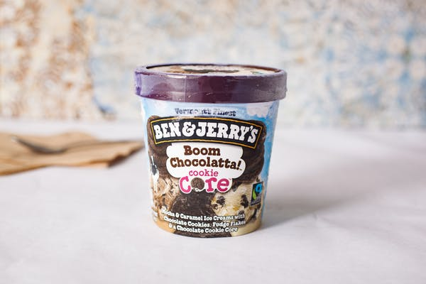 Ben & Jerry's Boom Chocolatta Cookie Core Ice Cream