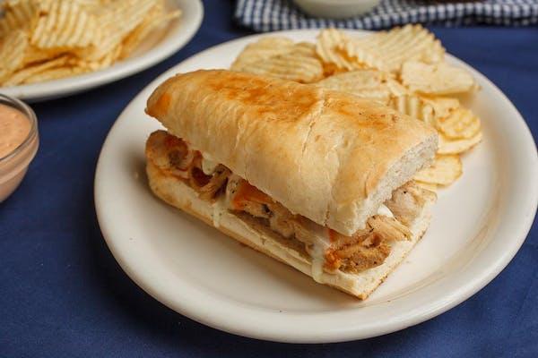 "6"" Buffalo Chicken Sandwich and Chips"
