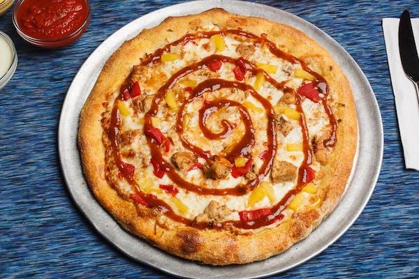 One Love Jamaican Jerk Chicken Pizza