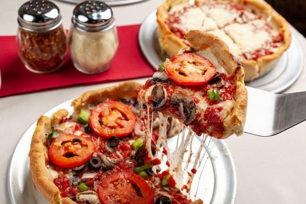 Veggie Deep-Dish Pizza