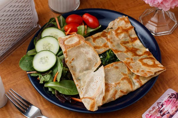 Spinach & Cheese Crepes Meal